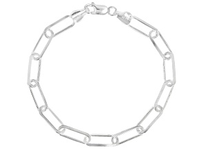 Sterling Silver 6.04MM Open Link 7.5 Inch Bracelet