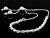 Sterling Silver 3.33MM Bolo Rope 9 Inch Bracelet