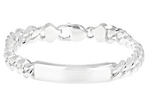 Sterling Silver Cuban ID 8.5 Inch Bracelet