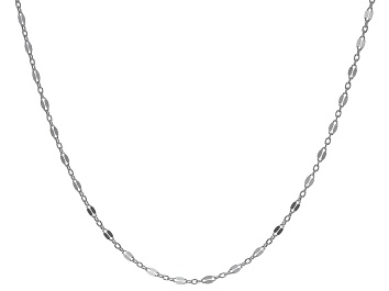 Picture of Sterling Silver 3.20MM Flat Rolo Link Necklace 20 Inches