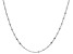 Sterling Silver 3.20MM Flat Rolo Link Necklace 20 Inches