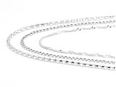 "20"" Sterling Silver Set of 3 Necklaces"