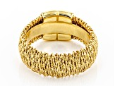 18K Yellow Gold Over Sterling Silver Wrapped Ring