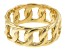 18K Yellow Gold Sterling Silver Curb Ring