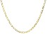 18K Yellow Gold Over Sterling Silver Flat Paperclip 24 Inch Chain Necklace