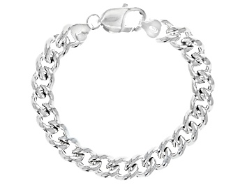 Picture of Sterling Silver 9.50MM Curb Bracelet