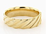 18K Yellow Gold Over Sterling Silver Symmetric Braided Ring
