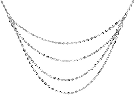 Sterling Silver Multi-Strand 20 Inch Necklace