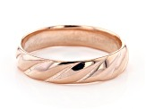 18K Rose Gold Over Sterling Silver Symmetric Design Band Ring