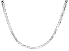"Sterling Silver 6.75MM 18"" Riccio Collar Necklace"