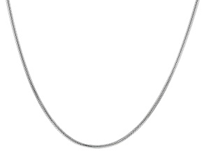 "Sterling Silver 3.10MM Round Snake 20"" Necklace"