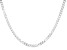 Sterling Silver Faceted Curb 20 Inch Necklace