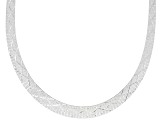 Sterling Silver Graduated Cleopatra 18 Inch Necklace
