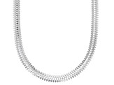 Sterling Silver 3.40MM Flat Snake 20 Inch Necklace