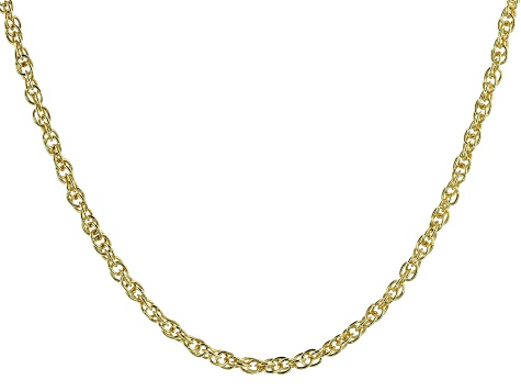 "18K Yellow Gold Over Sterling Silver 2.07MM Torchon 18"" Necklace"