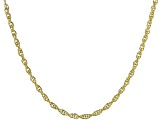 "18K Yellow Gold Over Sterling Silver 2.07MM Torchon 24"" Necklace"