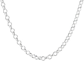 "Sterling Silver 20"" Rolo Necklace"