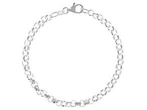 Sterling Silver 4.61MM Rolo Bracelet