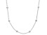 "Sterling Silver 2.30MM Oval Forzatina With Diamond Cut Beads 28"" Necklace"