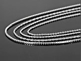 Sterling Silver 22 Inch Singapore, Rope, Box, Cable Chains Set of 4