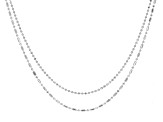 Sterling Silver Ball Diamond Cut Chain Set of 2 20 and 24  Inches