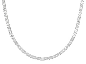 Sterling Silver 3.30MM Squared Byzantine 20 Inch Necklace