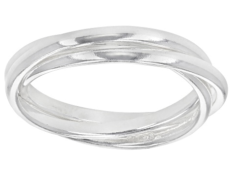 Sterling Silver Polished Triple Band Ring