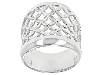 Picture of Sterling Silver Open Dome X Design Ring