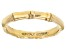 18K Yellow Gold Over Sterling Silver Bamboo Band Ring