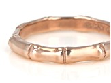 18K Rose Gold Over Sterling Silver Bamboo Band Ring