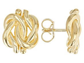10K Yellow Gold Over Sterling Silver Polished Knot Earrings