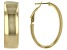10K Yellow Gold Over Sterling Silver 22MM Polished Hoop Earrings