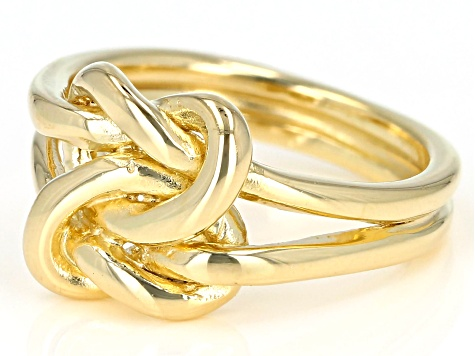 10K Yellow Gold Over Sterling Silver Knot Ring