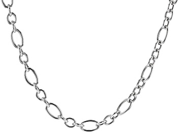 Picture of Rhodium Over Sterling Silver 20 Inch Figaro Necklace