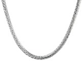 Sterling Silver 6.5MM Diamond Cut 20 Inch Bombe Herringbone Link Necklace