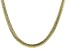 18K Yellow Gold Over Sterling Silver 6.5MM Diamond Cut 20 Inch Bombe Herringbone Link Necklace