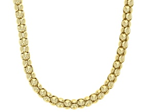 18K Yellow Gold Over Sterling Silver 4MM Popcorn Chain 20 Inch Necklace