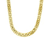 18K Yellow Gold Over Sterling Silver 4.90MM Popcorn Chain 20 Inch Necklace