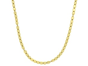 18K Yellow Gold Over Sterling Silver 2MM Cube Chain 20 Inch Necklace