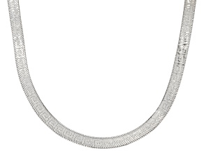 Sterling Silver 4.4mm Greek Herringbone Chain 20 Inch Necklace