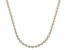 Sterling Silver and 18K Yellow Gold Over Sterling Silver Star Bead 20 Inch Necklace