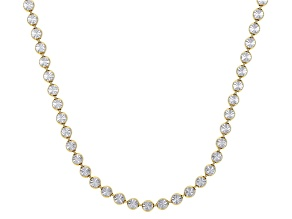 Sterling Silver and 18K Yellow Gold Over Sterling Silver Star Bead 24 Inch Necklace