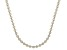 Sterling Silver Two-Tone Star Bead 24 Inch Necklace