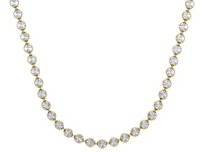 Sterling Silver and 18K Yellow Gold Over Sterling Silver Star Bead 28 Inch Necklace