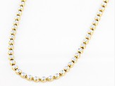 Sterling Silver Two-Tone Star Bead 28 Inch Necklace