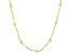 18K Yellow Gold Over Sterling Silver Station Disco Ball 20 Inch Singapore Necklace