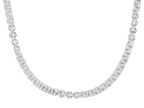 Sterling Silver Round 4.9MM Phoenix Chain 18 Inch Necklace
