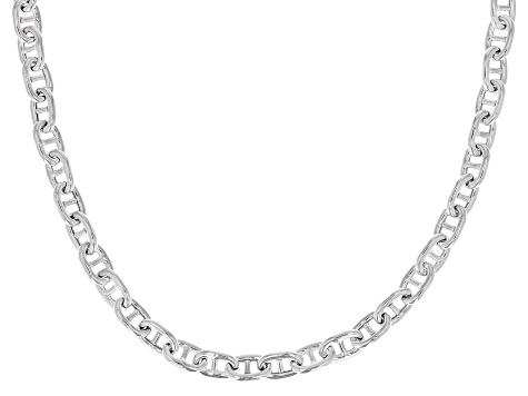 Sterling Silver 5.90mm Mariner Link Chain 20 inch Necklace