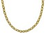 18k Yellow Gold Over Sterling Silver 5.90mm Mariner Link Chain 20 inch Necklace