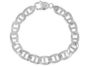Sterling Silver 10.40mm Mariner Link Bracelet